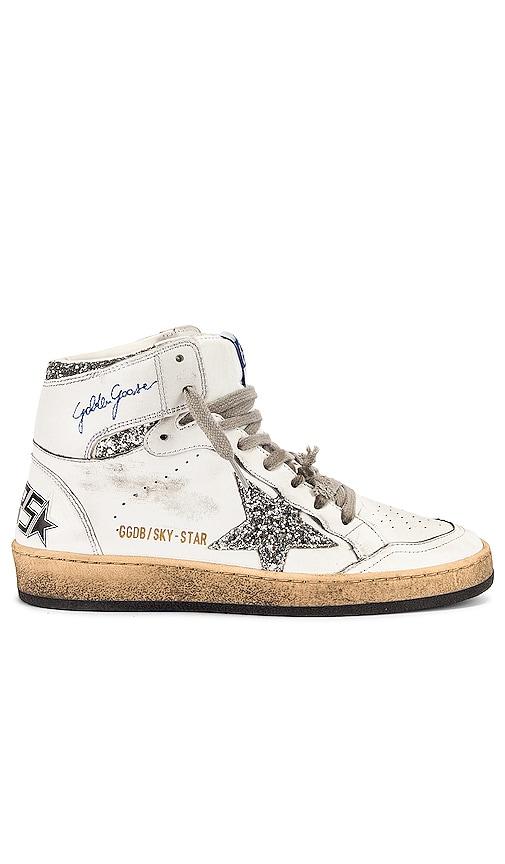 Golden Goose Sky Star Sneaker in White.