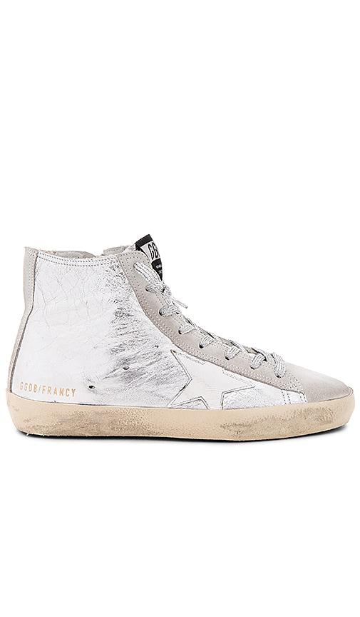 Golden Goose Francy Sneaker in Metallic Silver