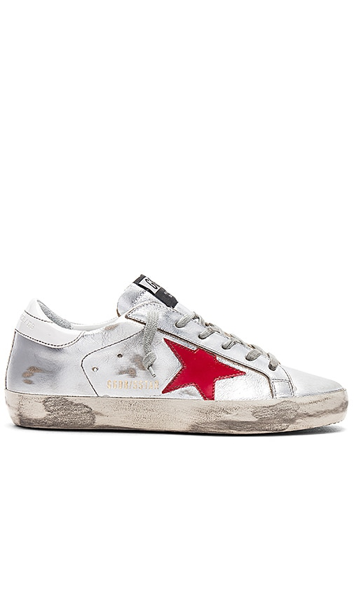 Golden Goose Superstar Sneakers in Metallic Silver