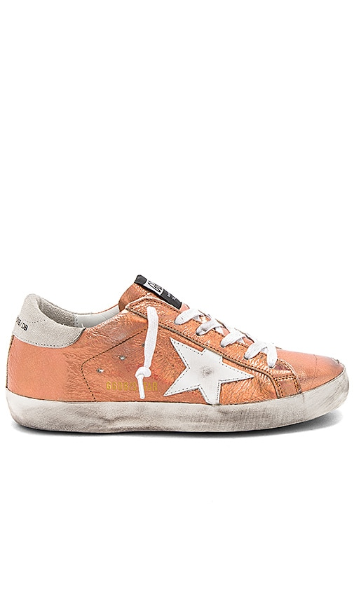 Golden Goose Superstar Sneaker in Metallic Copper