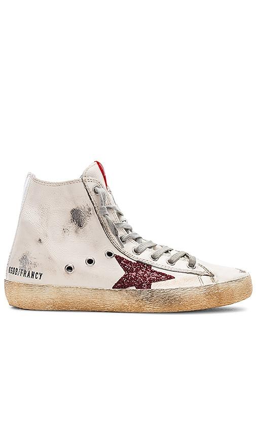 Golden Goose Francy Sneaker in Cream \u0026