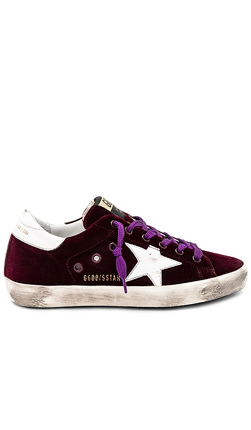 Golden Goose Superstar Sneaker in Burgundy
