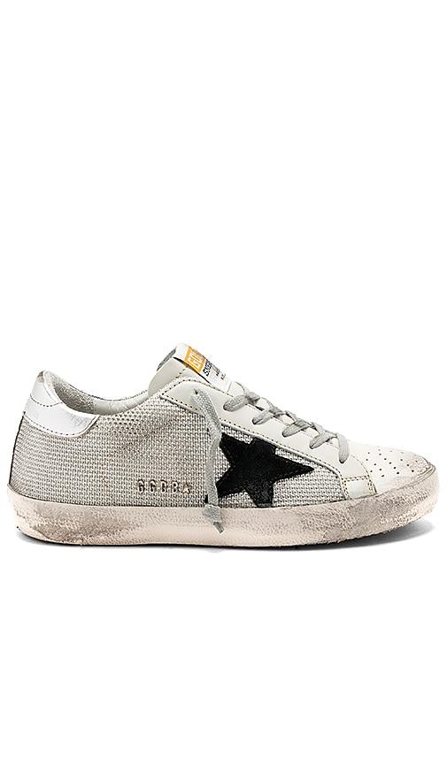Golden Goose Superstar Sneaker in Metallic Silver