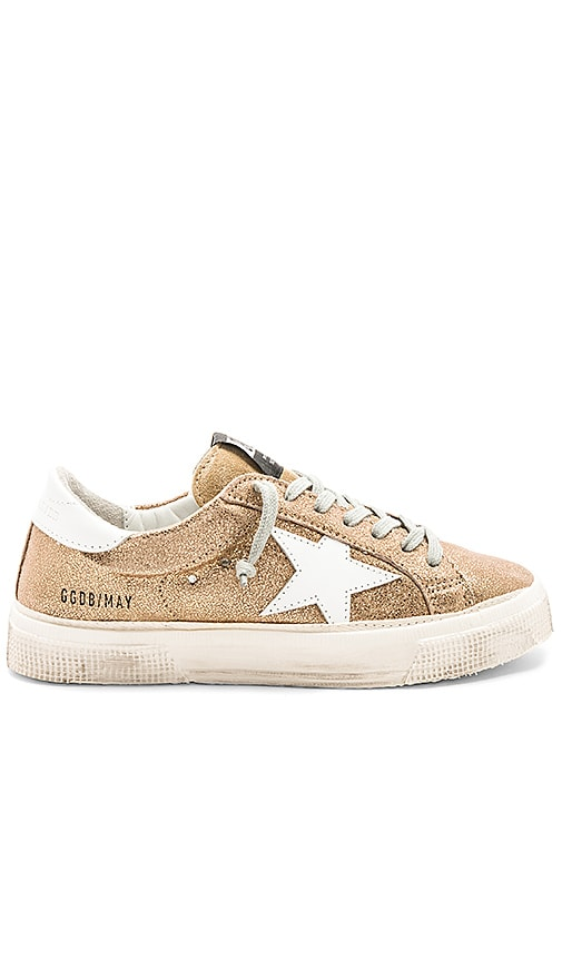 Golden Goose May Sneaker in Metallic Gold