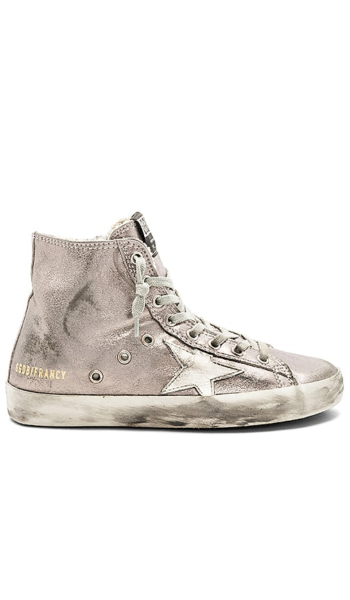 Golden Goose Francy Sneaker in Metallic Silver