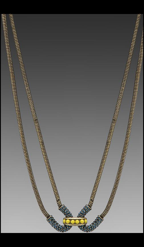 Giles Encrusted Double Cortina Necklace