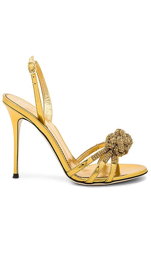 Giuseppe Zanotti Mistico Heel in Metallic Gold