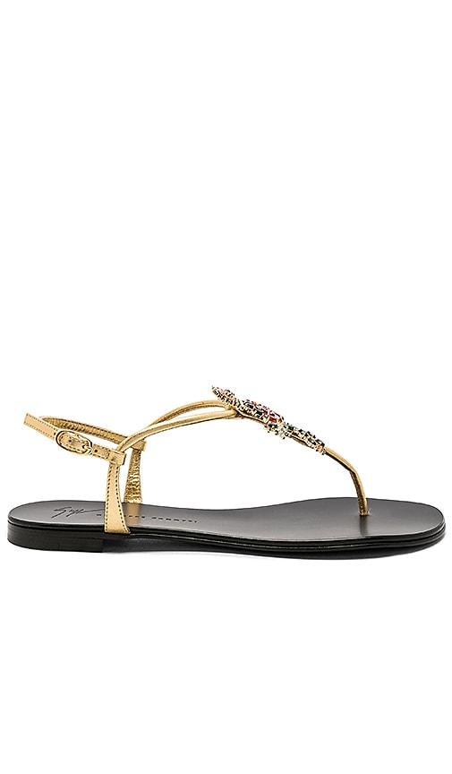 Giuseppe Zanotti Nuvorock Sandal in Metallic Gold