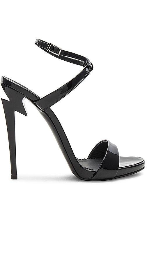 Black Patent Alien Sandals
