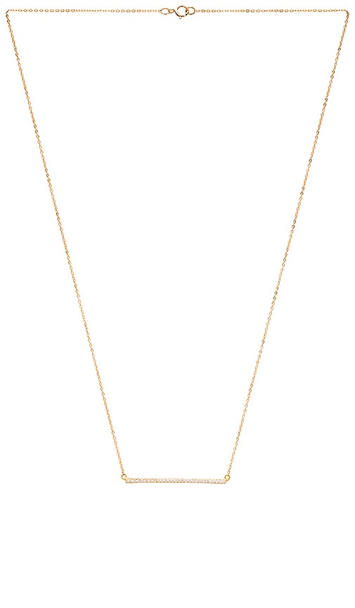 EIGHT by GJENMI JEWELRY Bar Necklace in Metallic Gold