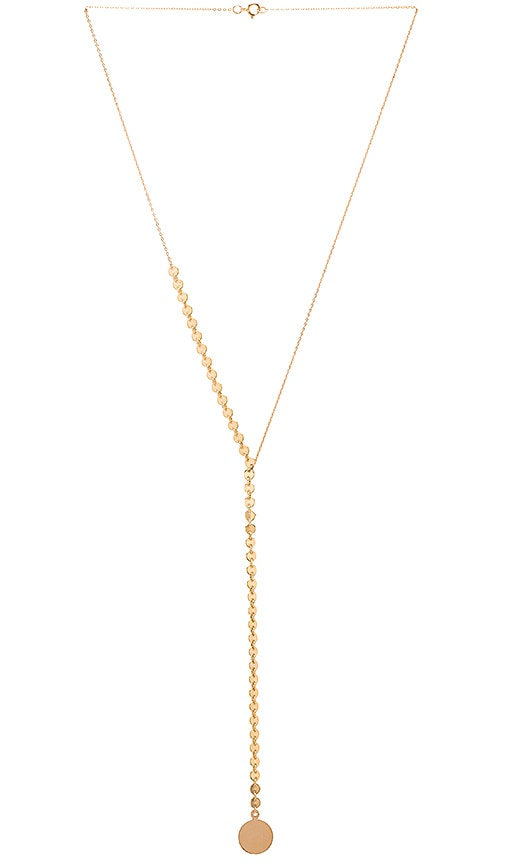 EIGHT by GJENMI JEWELRY Disc Lariat Necklace in Gold