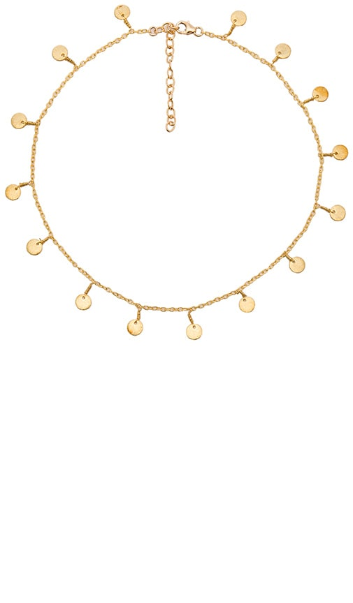 EIGHT by GJENMI JEWELRY Coin Necklace in Metallic Gold