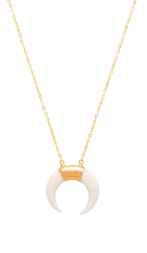 EIGHT by GJENMI JEWELRY Bone Necklace in Metallic Gold
