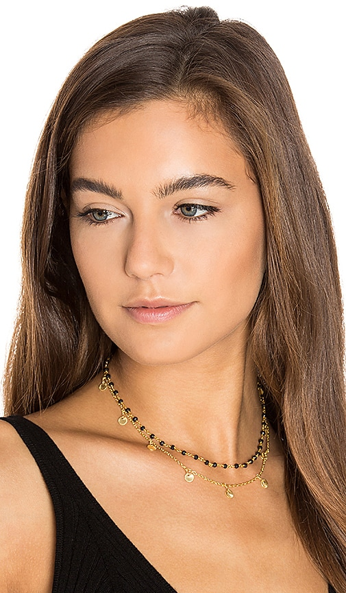EIGHT by GJENMI JEWELRY Spinel Layered Choker in Metallic Gold