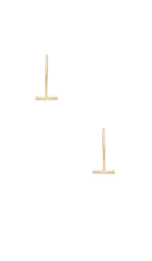 EIGHT by GJENMI JEWELRY Bar Earrings in Metallic Gold