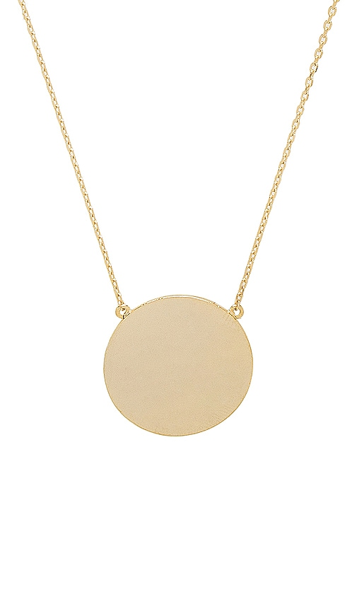 EIGHT by GJENMI JEWELRY Sunrise Necklace in Metallic Gold