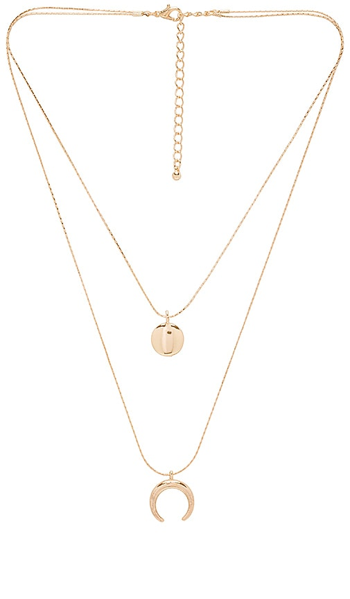Crescent Full Moon Double Necklace