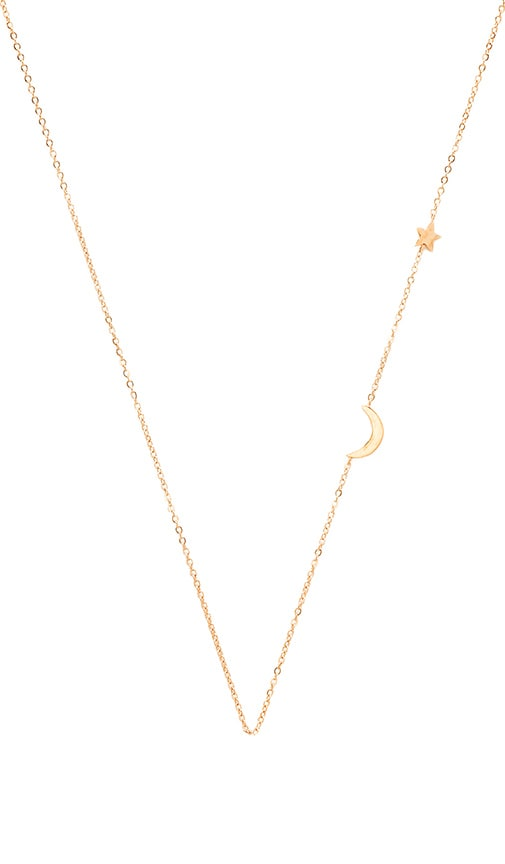 EIGHT by GJENMI JEWELRY Moon & Star Necklace in Gold
