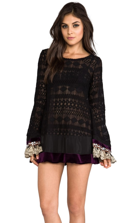 Mimi Mini Lace Dress w/ Bell Sleeve