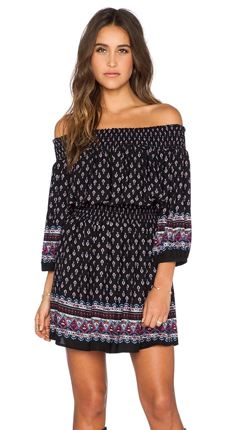 GLAMOROUS Off The Shoulder Tunic in Black