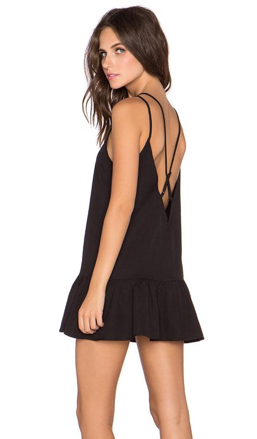 GLAMOROUS Ruffle Mini Dress in Black