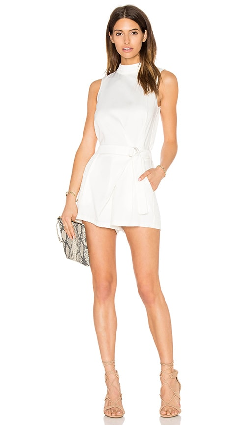 GLAMOROUS Sleeveless Romper in White
