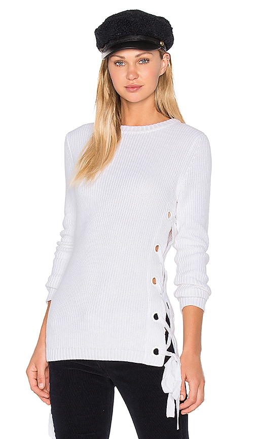 GLAMOROUS Sweater Top in White