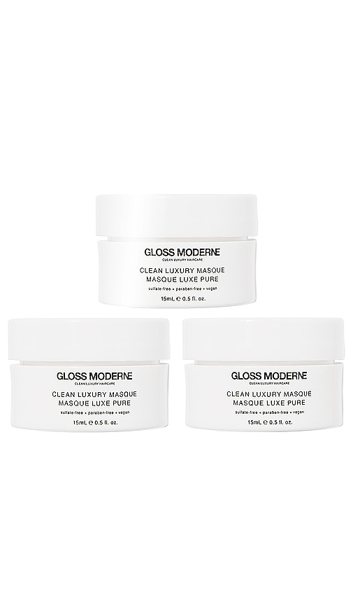 GLOSS MODERNE Clean Luxury Travel Masque Trio in Beauty: Na