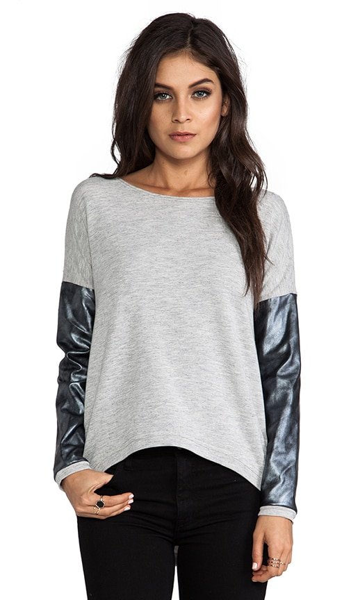 Bobo Silver Leather Sweater