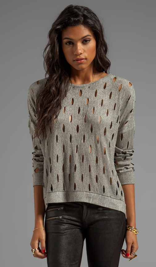 Geneva Metal Slit Sweater