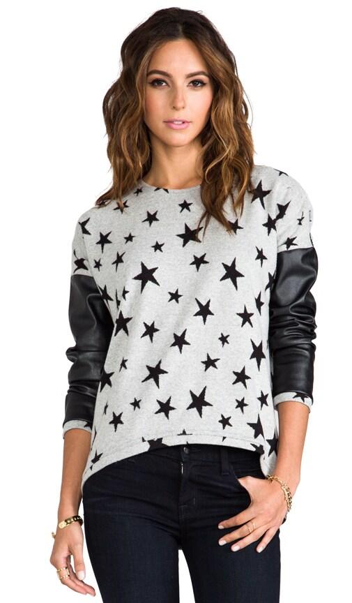 Bobo Leather Sleeve Sweater