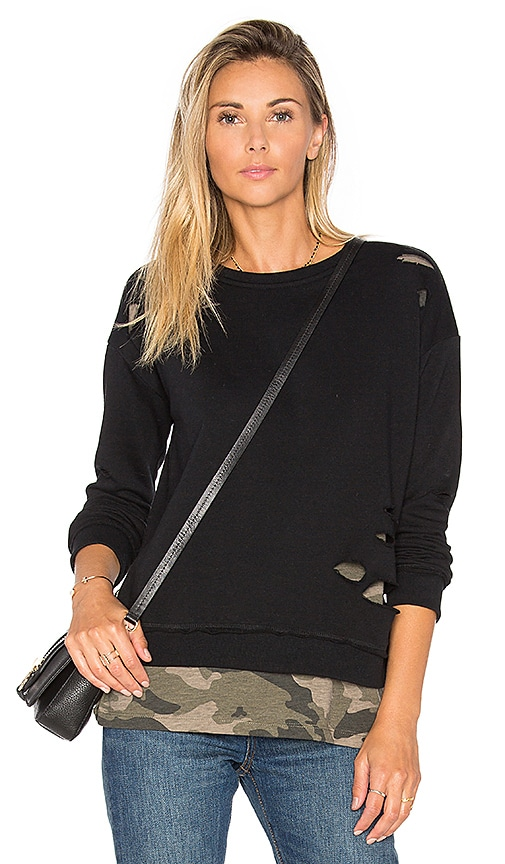 Generation Love West Camo Sweatshirt in Army