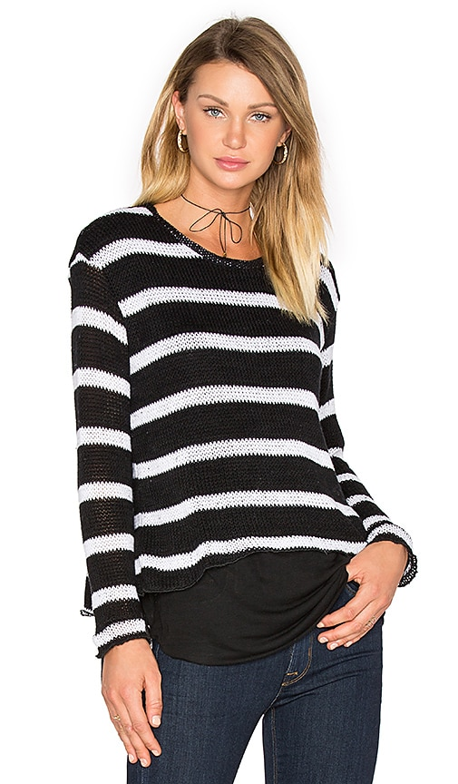 Generation Love Molly Stripes Sweatshirt in Black & White