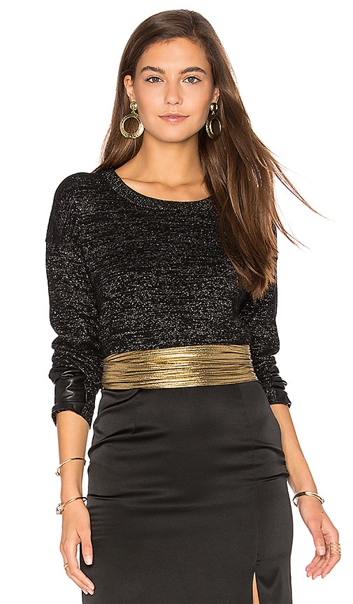 Generation Love Lexi Lurex Top in Black
