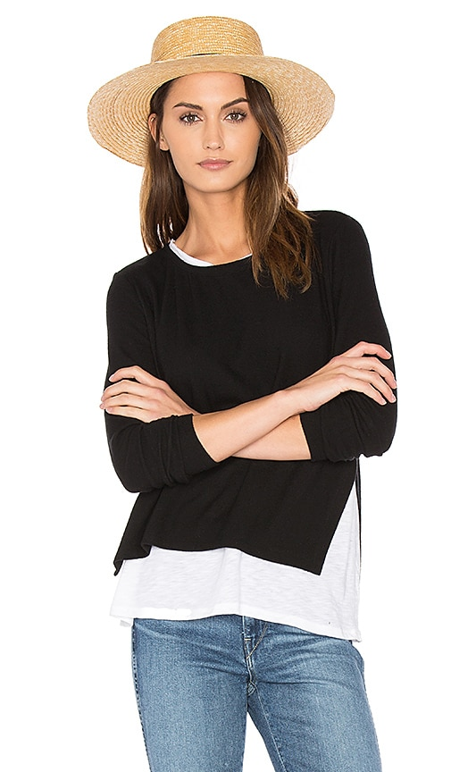 Generation Love Ellie Double Layer Top in Black