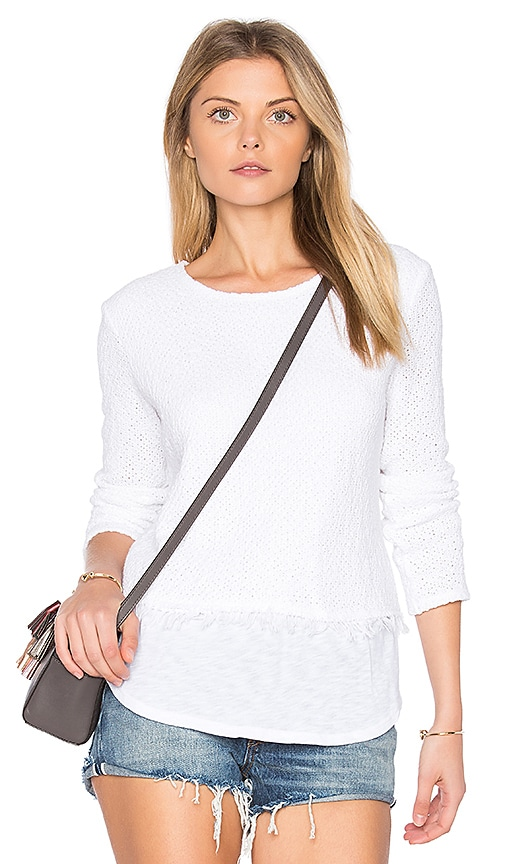 Generation Love Sinclair Fringe Sweater in White