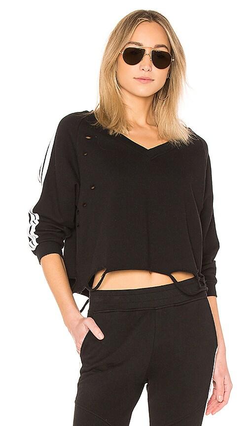 Generation Love Sharyn Stripe Pullover in Black