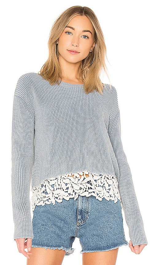 Generation Love Felix Lace Sweater in Blue