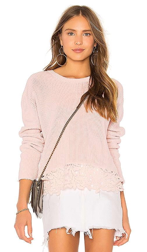 Generation Love Felix Lace Sweater in Pink