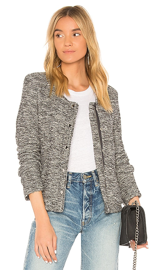 Generation Love Sheena Boucle Jacket in Gray