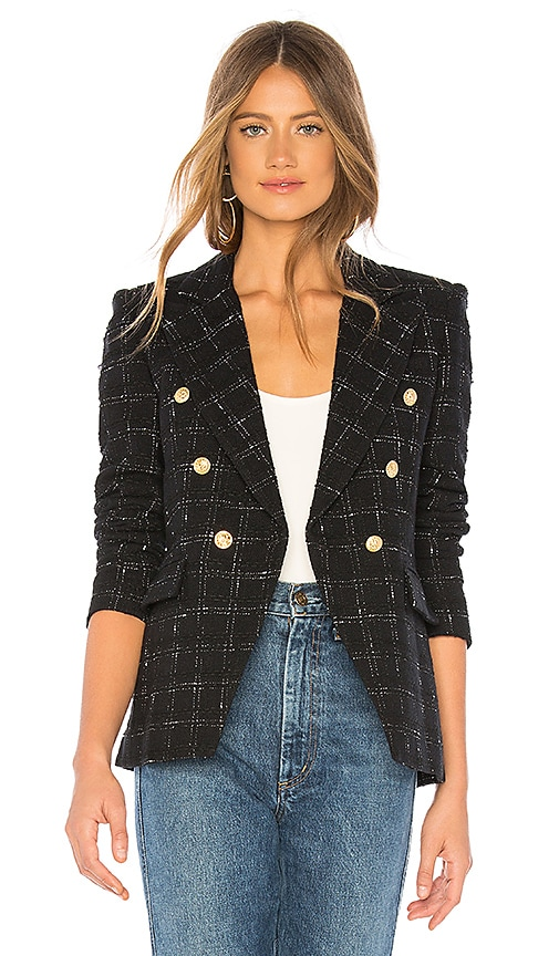 Generation Love Alexa Blazer in Black & White | REVOLVE