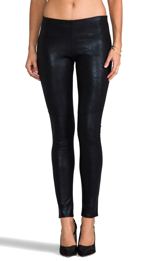 Elysa Coated Moto Legging