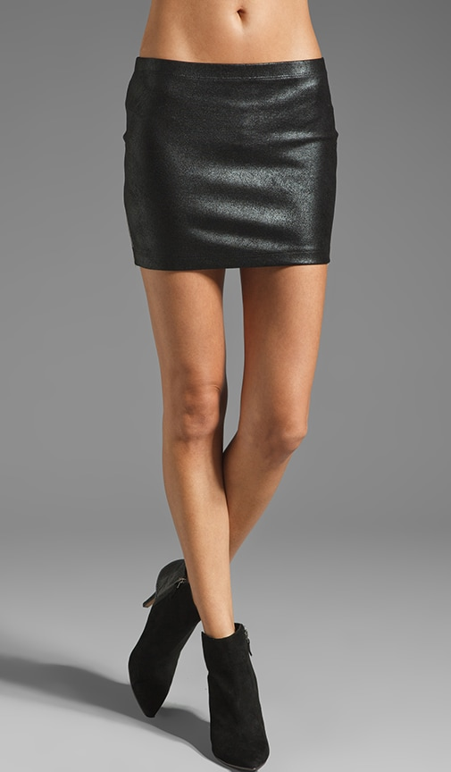 Celine Leather Mini Skirt with Side Zipper
