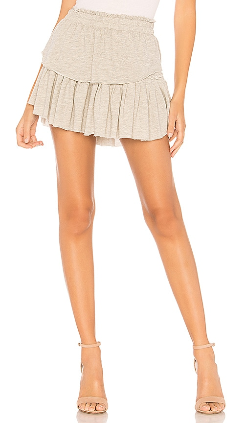 Generation Love Kimberly Double Layer Skirt in Gray