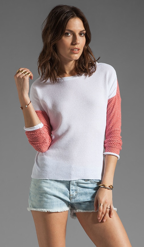 Juliet Contrast Mesh Long Sleeve