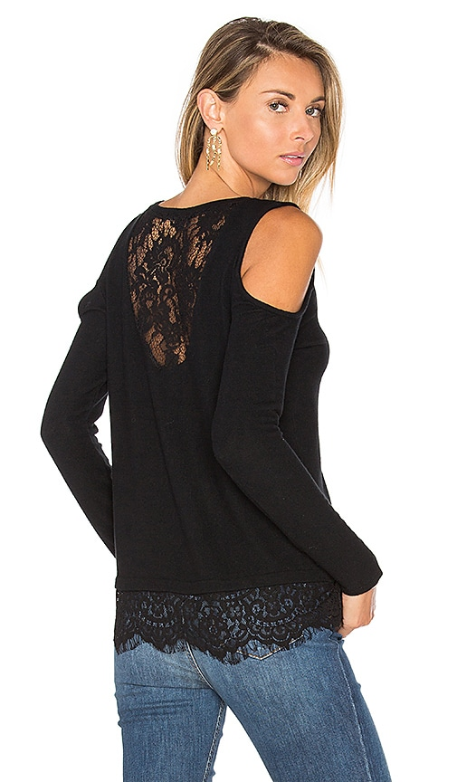 Generation Love Martha Lace Cold Shoulder Top in Black