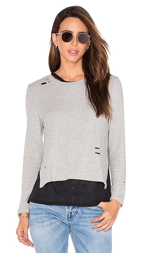 Generation Love Eliza Holes Long Sleeve Top in Light Gray