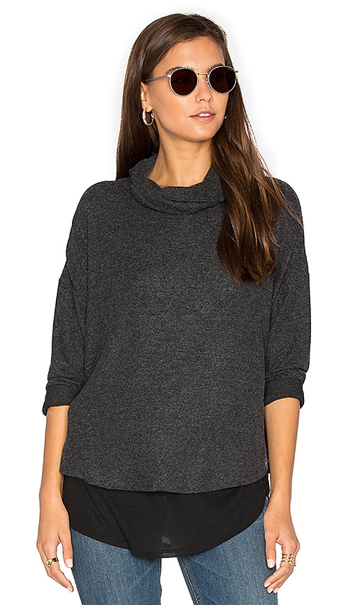 Generation Love Ada Turtleneck Top in Charcoal