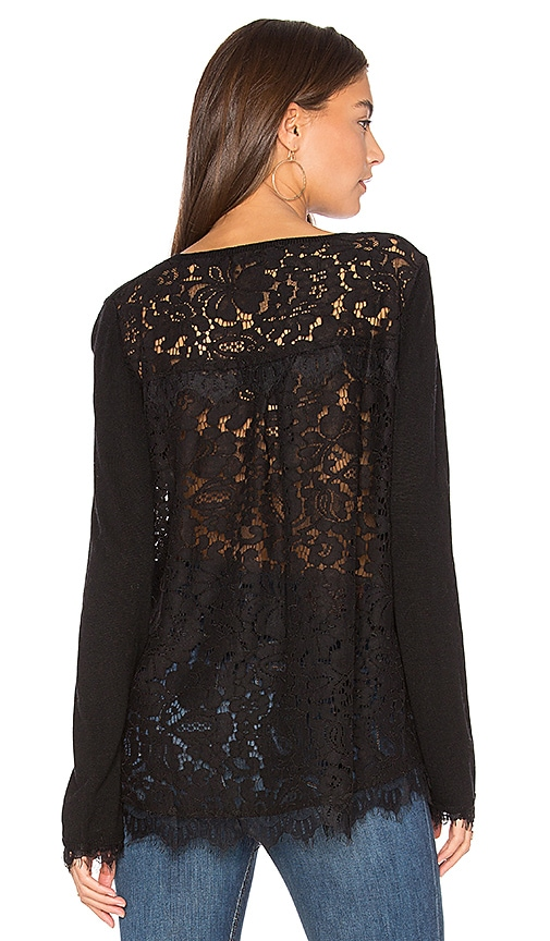 Generation Love Marjorie Lace Top in Black
