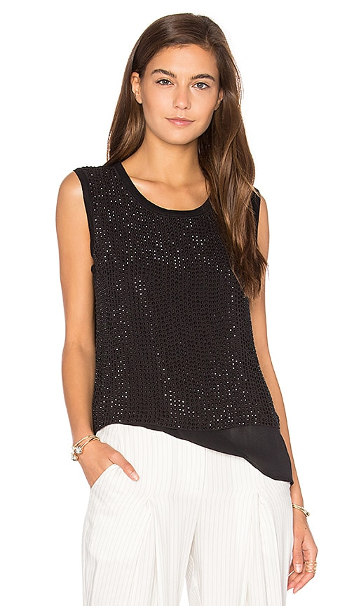 Generation Love Yaya Beaded Tank in Black